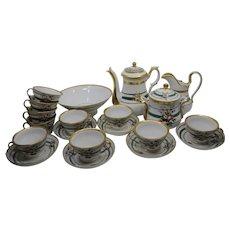 19th century Old Paris Porcelain coffee set