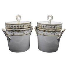 Pair of KPM Kurland Porcelain ice coolers