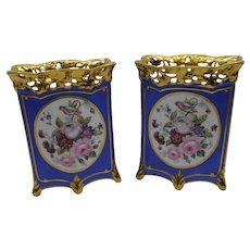 Pair of 19th century French Old Paris Porcelain vases