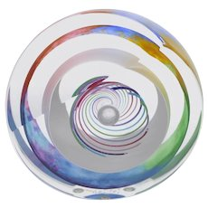 Paul Harrie Rainbow Saturn PH6SP Paperweight