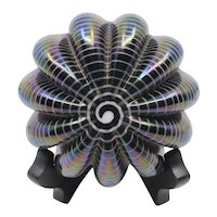 1990 Robert Eickholt iridescent sea urchin paperweight