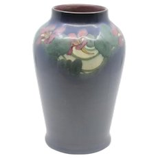 Rookwood vellum floral vase decorated by Lenore Asbury in 1916