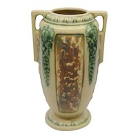 Roseville Pottery Florentine #2312 double handled Vase