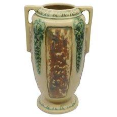 Roseville Pottery Florentine #2312 double handled Vase