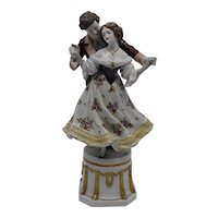 Scheibe Alsbach Kister Hand Painted Georgian Courting Couple Figurine