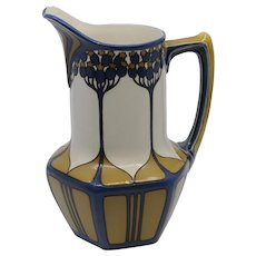 Villeroy and Boch Mettlach Elderberry Art Nouveau Pitcher/Ewer