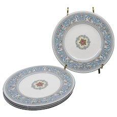 Four Wedgwood Florentine Turquoise Salad Plates