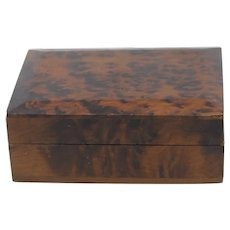 Amboyna Burl Wood Box