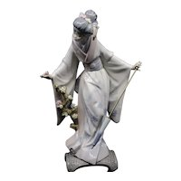 Lladro Teruko No. 1451 Japanese Geisha with Parasol Figurine