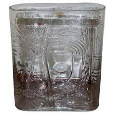 Kosta Boda Sweden Clear Glass Rustica Terra Fran Capsule Shaped Vase 1981 Designed by Bertil Vallien - RARE