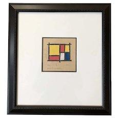 Piet Mondrian Mixed Media Drawing