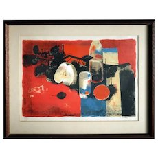 Pierre Bisiaux (French, b.1924)  Still Life - Limited Edition Lithograph Signed with Certificate of Authenticity