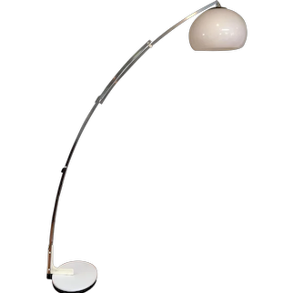Guzzini Italy Mid-Century Modern Adjustable Arc Floor Lamp