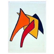 Alexander Calder Original Derrier le Miroir #141 Page 7 Stabile Lithograph, Maeght Gallery, 1963.