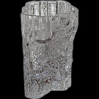 Iittala Finland Tapio Wirkkala Mid Century Scandinavian Minerva Art Glass Vase