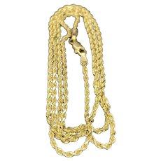 14k Italian Diamond Cut Rope Chain