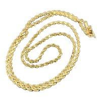 "Sparkly 14k 18"" Diamond Cut Rope Chain"
