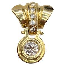 Beautiful 14k Champagne and White Diamond Pendant