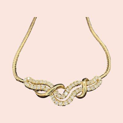Shimmering 14k Diamond Necklace