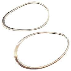 Modern 18k Italian Hoop Earrings