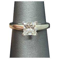 14k The LEO 1.03 Ct Princess Cut Diamond Ring