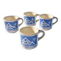 Set of four Original Boy Scout 14th Jamboree Official Mugs