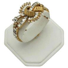 *Book Piece* Mazer Bros Retro Bracelet With Rhinestones