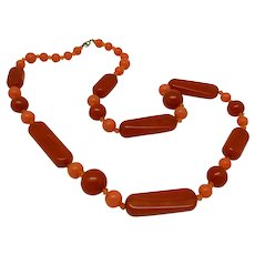 Bakelite and Resin Bead Necklace