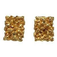 Goldtone Nugget Cuff Links