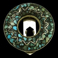 East Indian Mosaic Turquoise Dress Clip