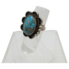 Sterling and Turquoise Southwestern Style Ring