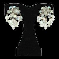 Faceted Crystal Bead Fringe Earrings