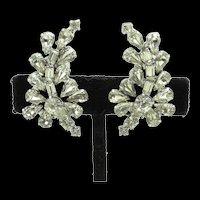 Floral Rhinestone Earrings