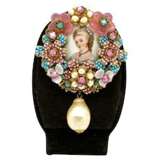 Ian St. Gielar Handmade Beaded Brooch with Flowers