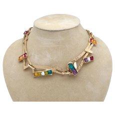 Christian Lacroix Poured Glass Necklace