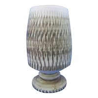 Goblet-form vase with textured surface by Bristow pottery, Shanklin.