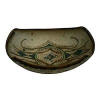 Studio pottery dish by British studio potter Bernard Forrester (1908 - 1990)
