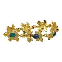 Signed Joan Rivers Turtle/Tortoise bracelet