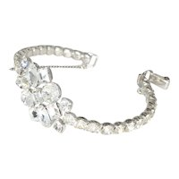 Sterling Silver and Rhinestone Bracelet