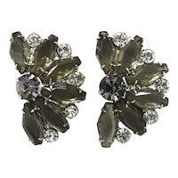 D&E Juliana Crystal Hexagon Coffin Rhinestone Earrings Black Diamond