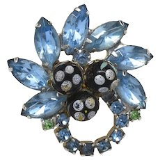 D&E Juliana Polka Dot Bead Brooch Pin