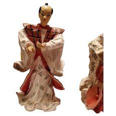 Ucago Japanese Warrior Figurine - Rare Item
