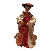 Ucago Japanese Hat Dance Lady Figurine