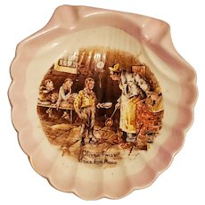 English Ware Lancaster ashtray clam shaped Oliver Twist