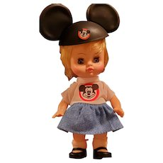 Mickey Mouse Club Blonde Doll with Mouse-earred Hat, T-shirt, etc by 1971 Horseman