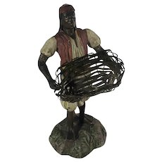 Black Americana Spelter Figurine