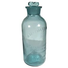 Ajax Fire Engine Works Chemical Bottle