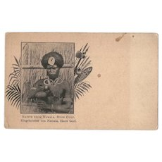 Native From Namala Huon Gulf Postcard