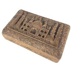 Taj Mahal India Carved Wood Box