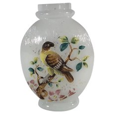 Blown Out Vase with Bird